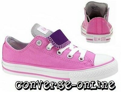 KID Girl CONVERSE All Star PINK PURPLE DOUBLE TONGUE OX Trainers Shoe UK SIZE 12