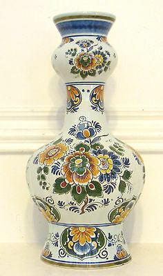 """Delft Polychrome 13 1/4"""" Tall Shaped Vase"""