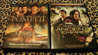 POMPEII (DVD, 2014) & TALES OF AN ANCIENT EMPIRE (DVD, 2012) VG/Excellent