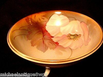 Antique R.S. Germany Footed Bowl with Floral Motif