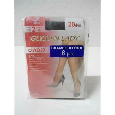 Offerta Gambaletto 8 Paia Golden Lady Calze Ciao 20 Den One Size Nero