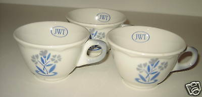 Jackson China Falls Creek PA Blue Floral JWT Cups 3