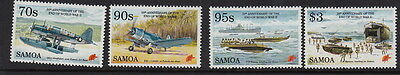 SAMOA:1995 50th Anniversary of End of WWII set+Min Sheet SG961-4+MS965  unm.mint