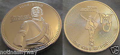 Silver Michael Jackson Medal Coin Autograph Signed King of Pop Music Singer USA