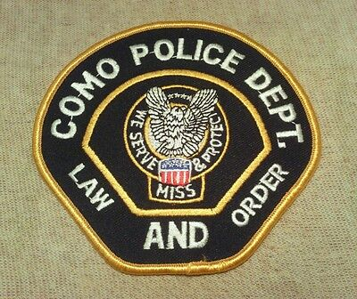 MS Como Mississippi Police Patch