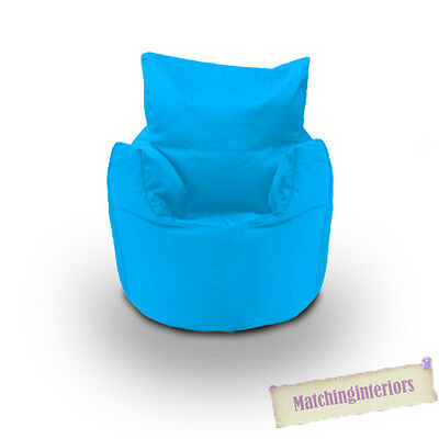 Blue Cotton Children's Kids Toddlers Filled Beanchair Bean Bag Chair with Beans