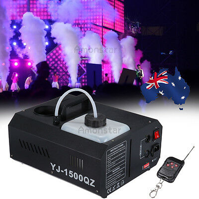 New 1500W 2L Party Stage Club DJ Low Fog Smoke Machine DMX Remote Fantastic Hot