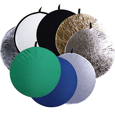 43inch 110cm 8in1 Photo Collapsible Disc Multi Studio Reflector Reflective Light