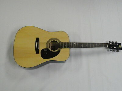John King Signed Full-Size Natural Acoustic Guitar Country Superstar