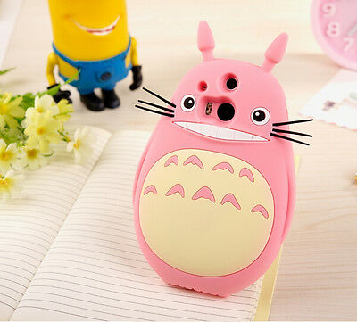 For HTC ONE M7 M8 Soft Silicon Cute Cartoon Anime Case My Neighbor Totoro Cover