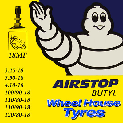 Michelin Motorcycle Inner Tube 18MF 3.25, 3.50, 100/90, 110/80-18