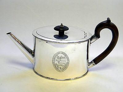 Antique Geo. Iii Georgian Silver Teapot / Tea Pot London 1786 Chawner