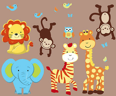 Boy Expedition Animals, Elephant Wall Decal, Jungle Wall Decal, Safari Stickers