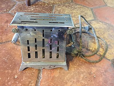 Antique Electrahot Two Drop Side Chrome Electric Toaster Style No. 209