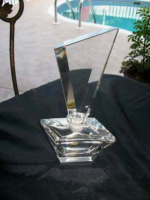 """vintage crystal scent PERFUME BOTTLE hand cut crystal w. germany imperlux 8 1/2"""""""