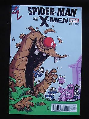 Spider-man and the X-men #1 - Skottie Young Variant Cover VF+ / NM