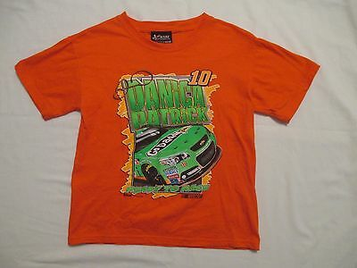 Kid's Youth Medium Danica Patrick Orange T-Shirt with Green Go Daddy Racecar
