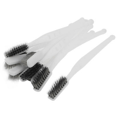 Industrial Hand Tool Steel Wire Clean Brush White 18cm Length 10 Pcs