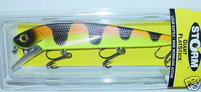 "8 1/2"" Giant FlatStick GFS22-577 Orange Tiger Storm Rapala Lure Musky Pike"