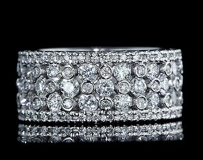 GREGG RUTH NATURAL 3.00ctw IDEAL CUT DIAMOND 18k WHITE GOLD ETERNITY BAND RING