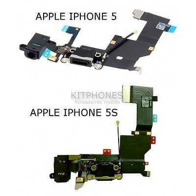 Nappe Connecteur Charge Flex Cable Jack Iphone 5/5S Connector Charger Lightning
