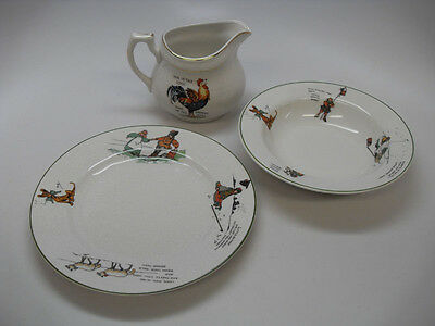 3 PC Baby Child China Set, Edwin Knowles, Nursery Rhymes, 1917-1918