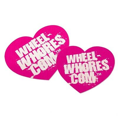 Wheel-Whores Pink Heart Car Sticker/Decal Pack