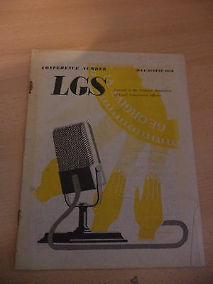 Old Vintage 1950S Lgs Magazine 1950 Journal Local Government Officers Politics