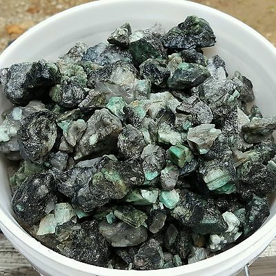 500 CTS ROUGH EMERALD GEMS NATURAL UNSEARCHED MINERAL LOT, Lapidary cabb