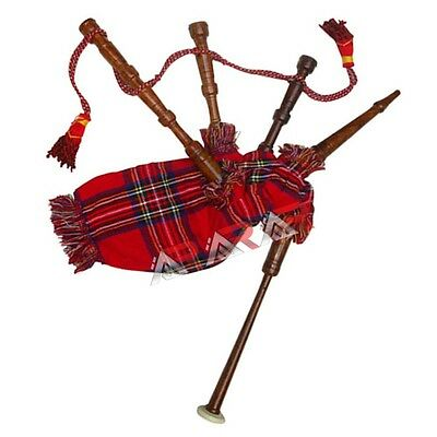 New Mini Toy Bagpipe Brand Baby Rosewood Royal Stewart Cover & Cord Free 2 Reeds