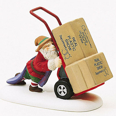Dept 56 / North Pole Accessory / Delivering Real Plastic Snow - NEW!