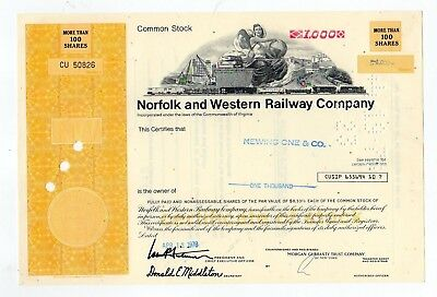 Norfolk and Western Railway Company Stock