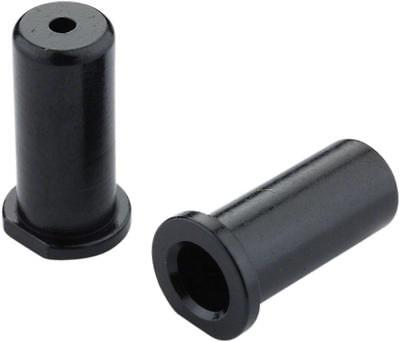 NEW Jagwire 4mm Lined Alloy End Caps Bottle of 50 Black