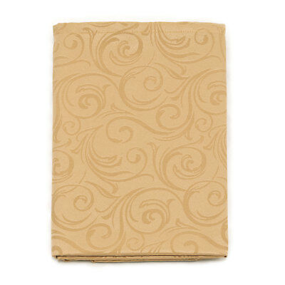 Lyon Tablecloth Anti-Stain Proof Resistant - Rectangle -Large Sizes-Color Beige