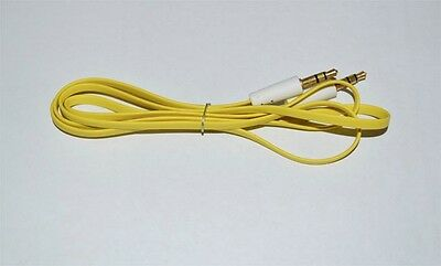 Yellow 3.5mm Male to Male Audio Car Aux Auxiliary Cable for Samsung Apple LG HTC