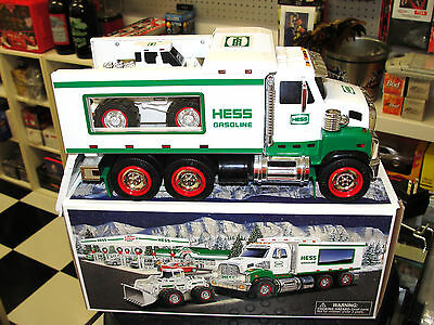 2008 HESS TOY TRUCK and FRONT LOADER  MULTIPLE SOUND MINT WITH BOX