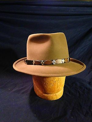 Vintage Stetson Royal Deluxe Fedora 1/4 Tag (7 1/4) Brown N Excellent! No Box