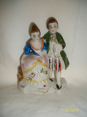 Vintage Colonial porcelain made in Occupied Japan statue