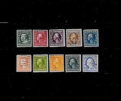 Reproductions of 357 - 366 Bluish Paper Rare US Stamps *070