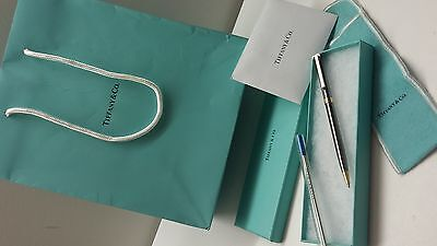 Authentic Tiffany & Co T- Clip Ruthenium Ballpoint Pen With Plenty of Extras