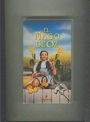 Video VHS: El mago de Oz (Judy Garland)