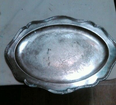 """Beautiful Circa 1890s Barbour Silver Oval Platter Tray - 24"""" Very Large!"""