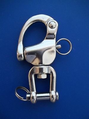 BBT Heavy Duty 316 Marine Grade Stainless Steel Snap Shackle with Tack Bail