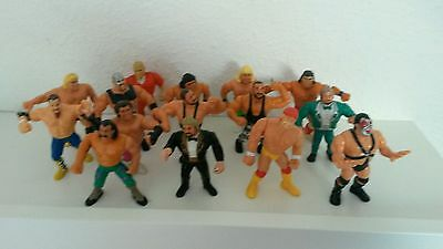 WWF WWE Hasbro 15 Figuren Hulk Hogan Million Dollar Man usw