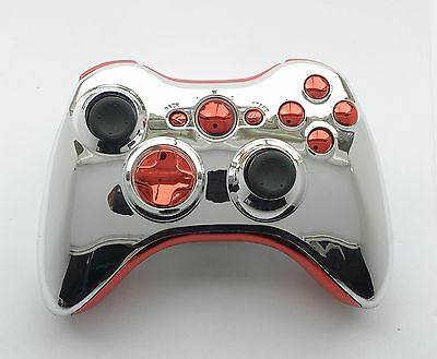 Iron Man Chrome Red & Gold Custom Xbox 360 Controller Shell Mod Kit Greenzone ®