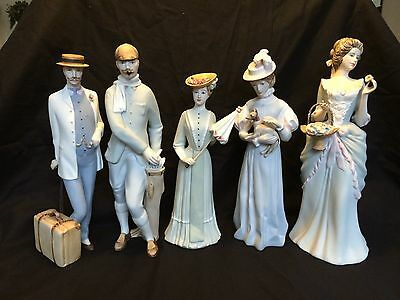 collection of art deco Royal Dux Figurines. All with marks and numbers