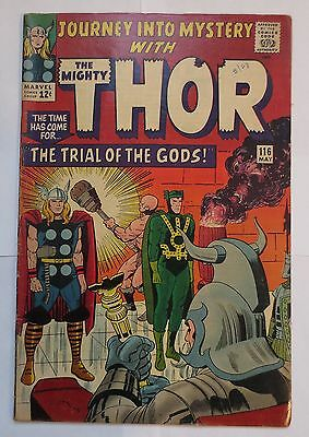 Journey into Mystery #116 (May 1965, Marvel) 7.0 FN/VF MUST SEE PICS