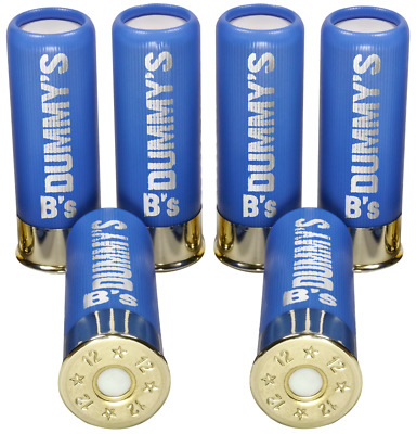 B's Dry Fire Snap Caps® Dummy 12 Gauge Training Rounds (6 Pack) Baby Blue 12 Ga