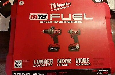 Milwaukee m18 fuel drill and impact driver set model number 2797-22