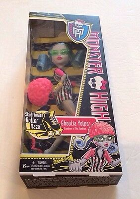 Monster High SKULTIMATE GHOULIA YELPS Roller Maze Skates Zombie New NRFB